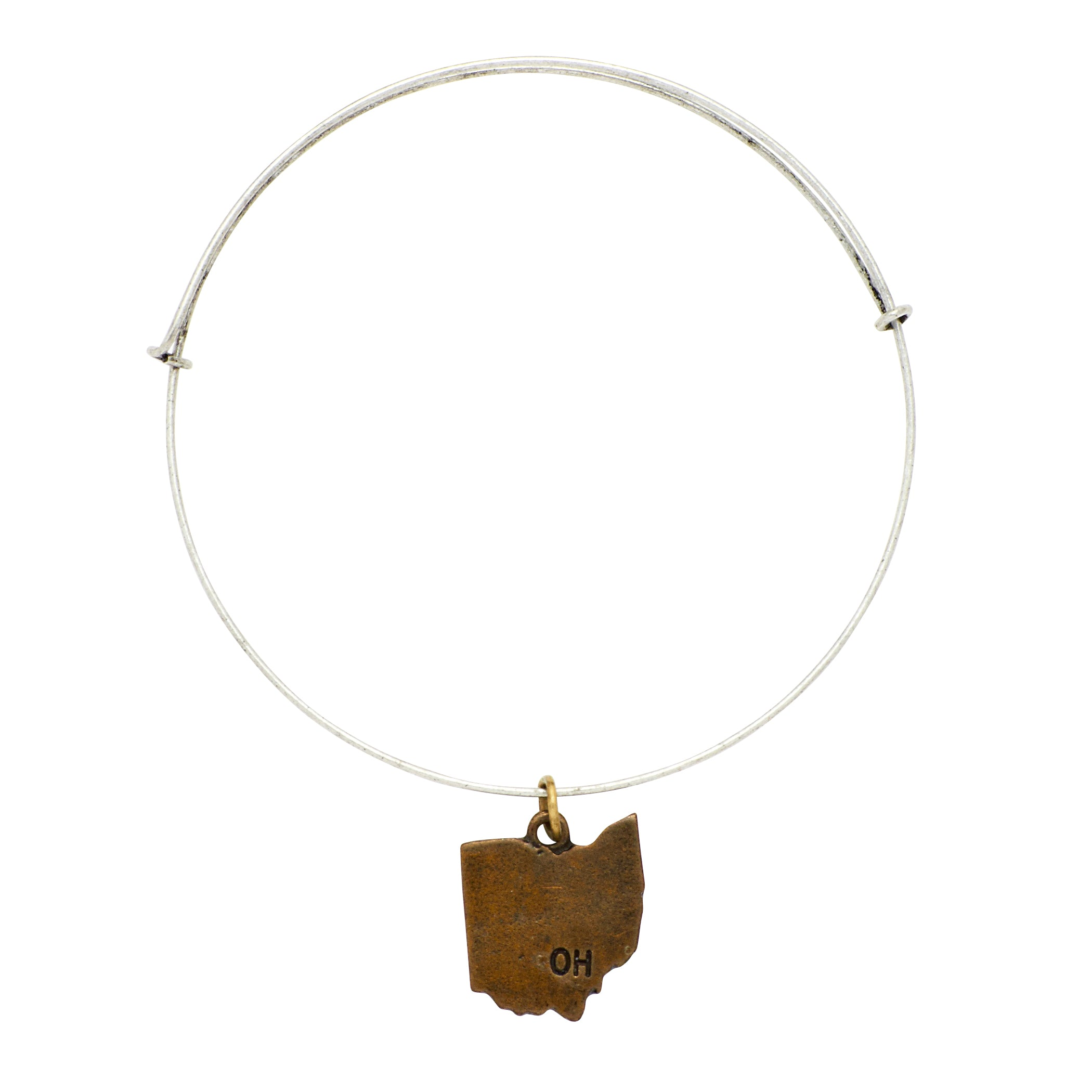 """Ohio"" State Initial Wire Bangle"