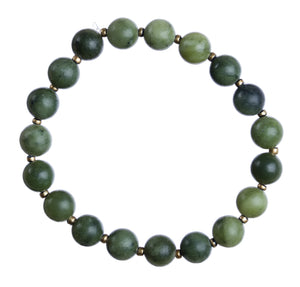 """Jade"" 8mm Natural Stone Stretchy Bracelet"