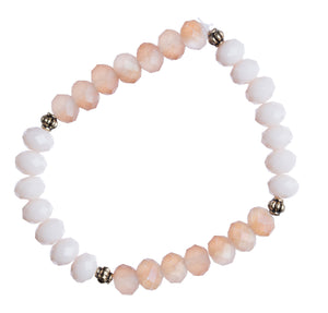 """Peach"" 8mm Crystal Stretchy Bracelet"