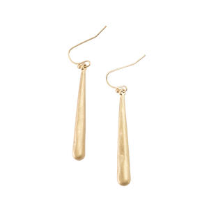 *Long, Skinny Gold Teardrop Earrings