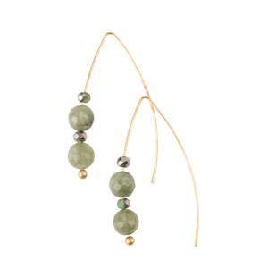 *Jade Stone Earrings