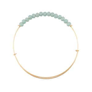 Matte Turquoise Crystal Bangle