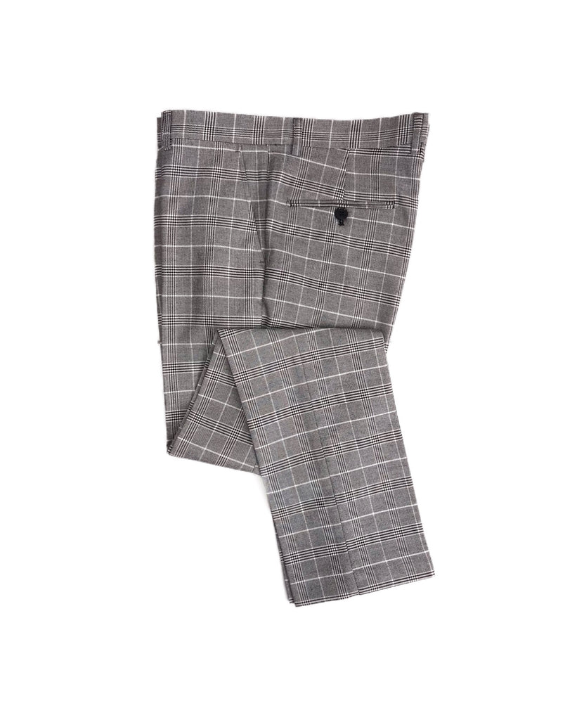 MARC DARCY Ross Grey Check 3 Piece Suit