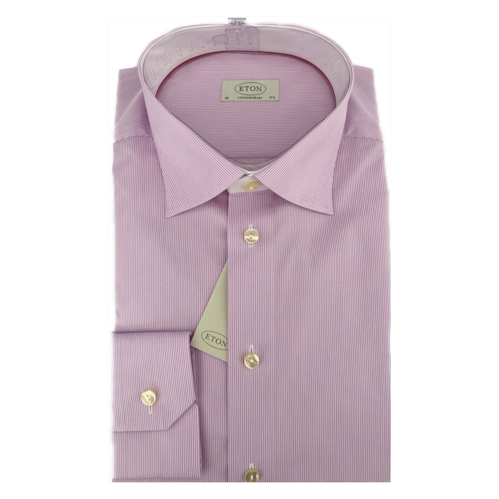 ETON Lilac Fine Stripe Contemporary Fit Shirt