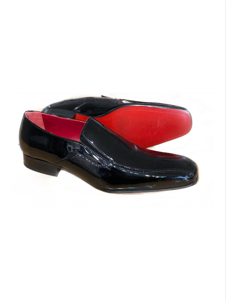 JACK MICHAEL Black Plain Patent Leather Shoe