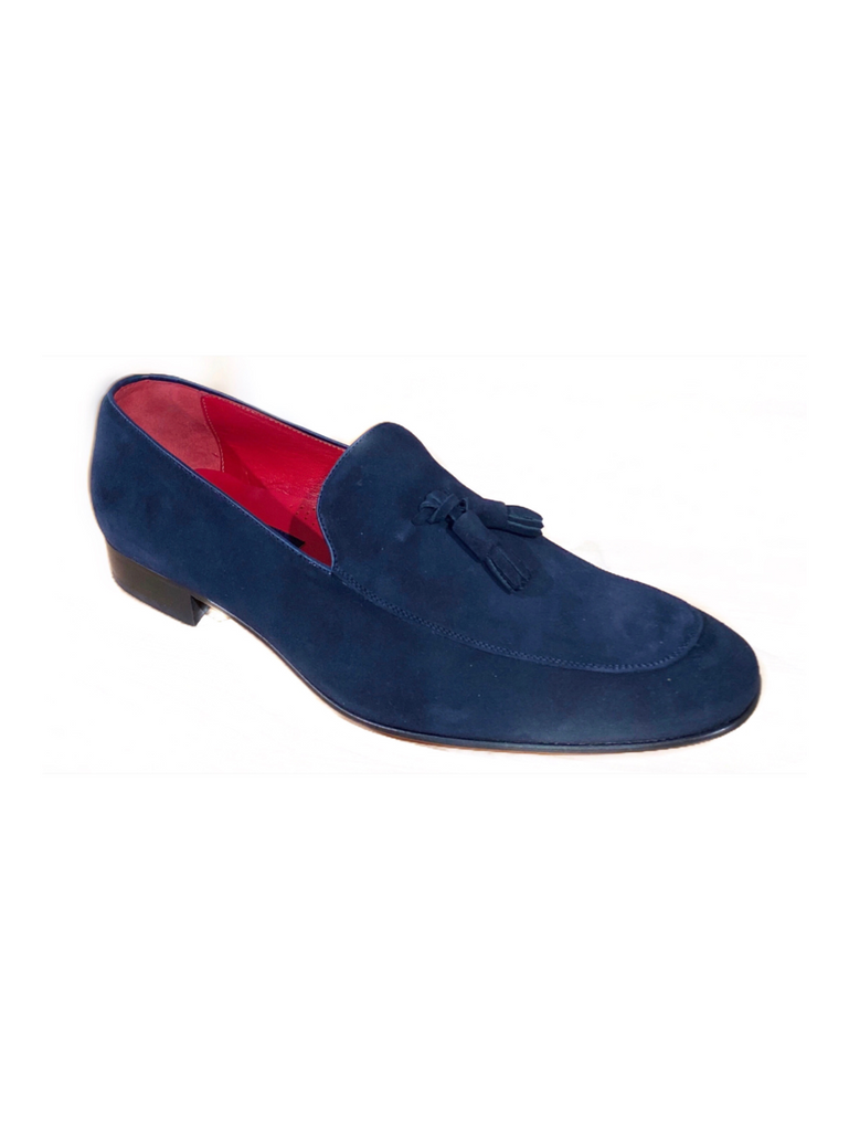 JACK MICHAEL Navy Suede with Tassel Shoe