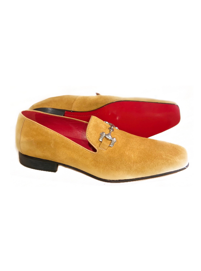 JACK MICHAEL Mustard Suede with Metal Band Shoe