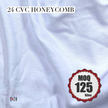 24 CVC Pique Honeycomb Cotton Fabric