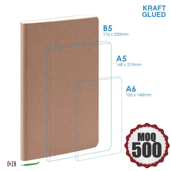 B5 Large Kraft notebook Customizable Corporate Gifts