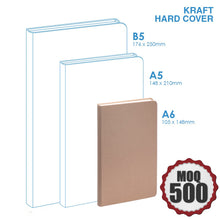 Small Kraft hard cover notebook
