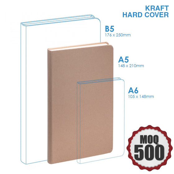 Medium Kraft notebook Hard Cover Eco Friendly