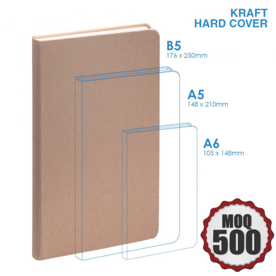 BND725 Kraft Hard cover, Large, Large Custom Notebook Custom notebook Supplier Philippines