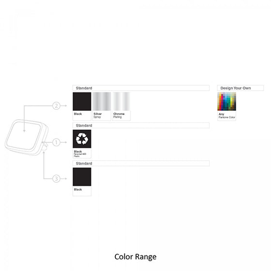 Color range BND405 Allo2 Recycled ABS