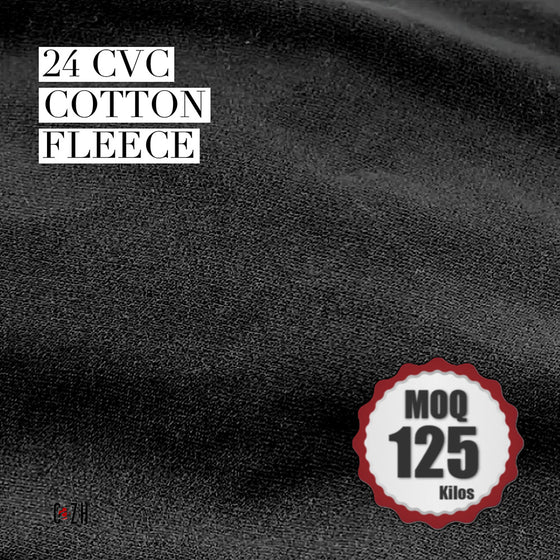 24 CVC Cotton Fleece Fabric