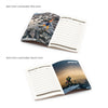 BND710 Small Leather soft cover GLUED Notebook