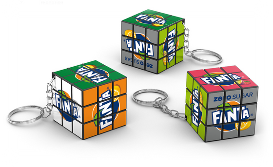 Fanta Rubiks 3x3 Keychain Rubik's cube Supplier Custom Rubik's cube Supplier Philippines Corporate Gifts Corporate Giveaways Rubik's Merchandise