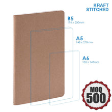 Large Kraft notebook Stitched Corporate Gifts