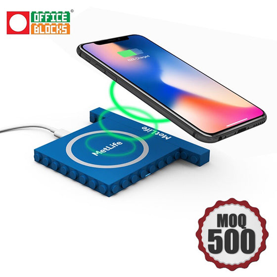 Office Blocks Wireless Charger 2 in 1 set