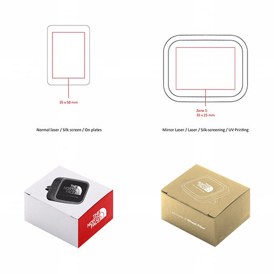 Personalized Packaging BND405 Allo2 Magnetic Car mount WHEAT FIBER