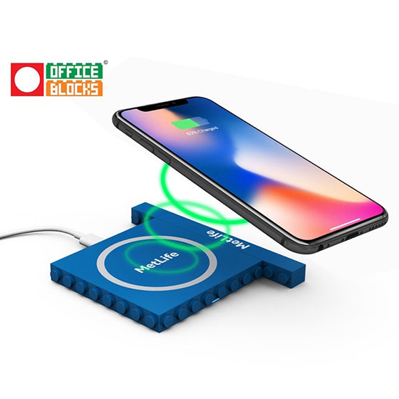 Personalized Wireless charger Office Blocks Wireless Charger 2 in 1 set