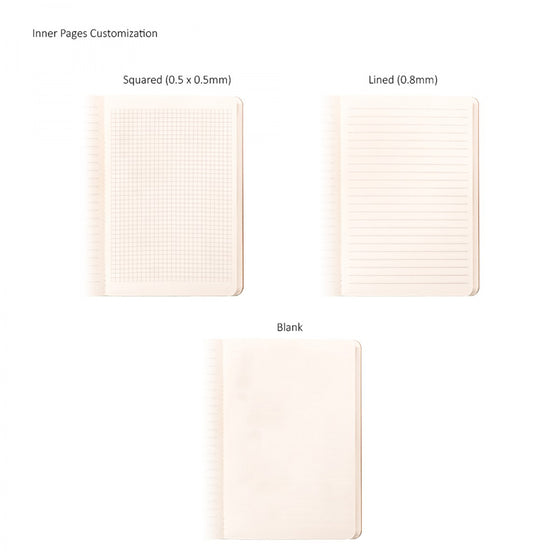 BND712 Large Leather soft cover GLUED Notebook