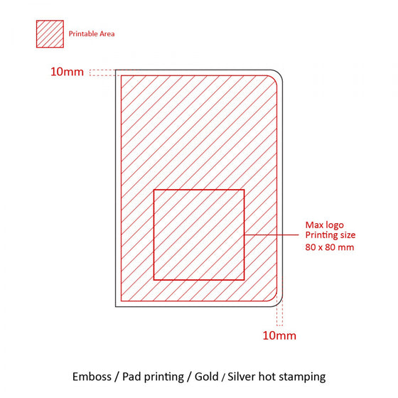 BND715 Large Kraft soft cover GLUED Notebook
