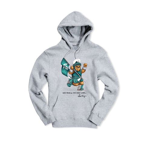MSU Bear Hoodie (Grey - Limited Edition)