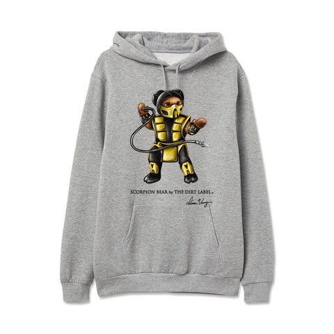Scorpion Bear Hoodie (Grey - Limited Edition)