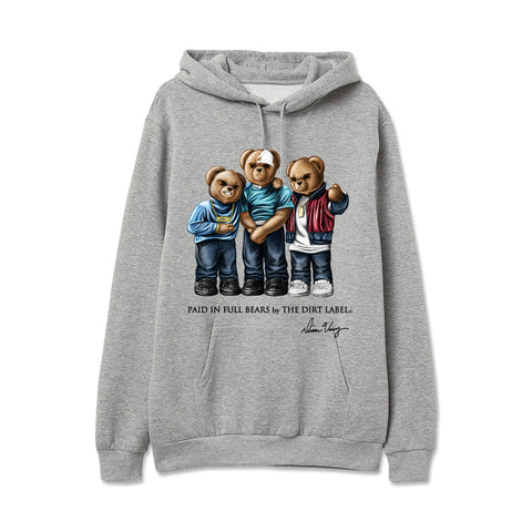 Paid in Full Bears Hoodie (Grey - Limited Edition)
