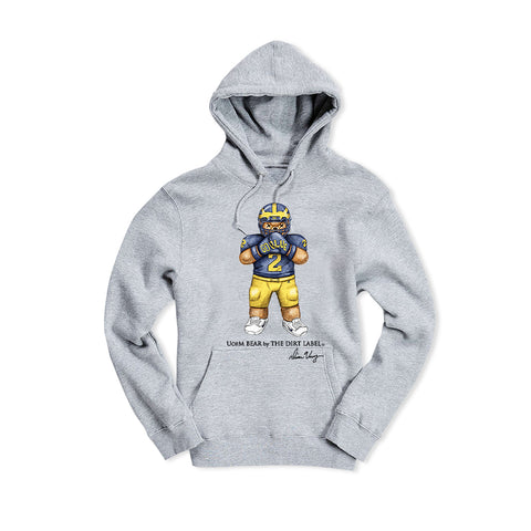 UofM Bear Hoodie (Grey - Limited Edition)