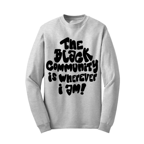 Black Community (Heather Grey Sweatshirt - Limited Edition) TDL