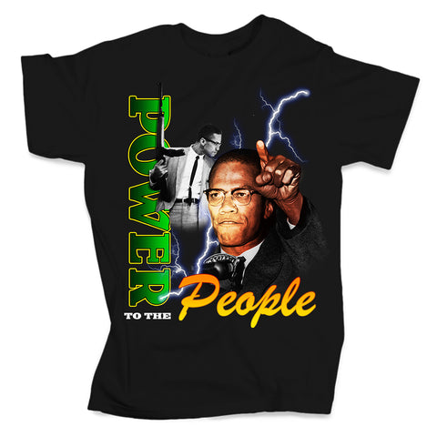 Power to the People - Black Tee