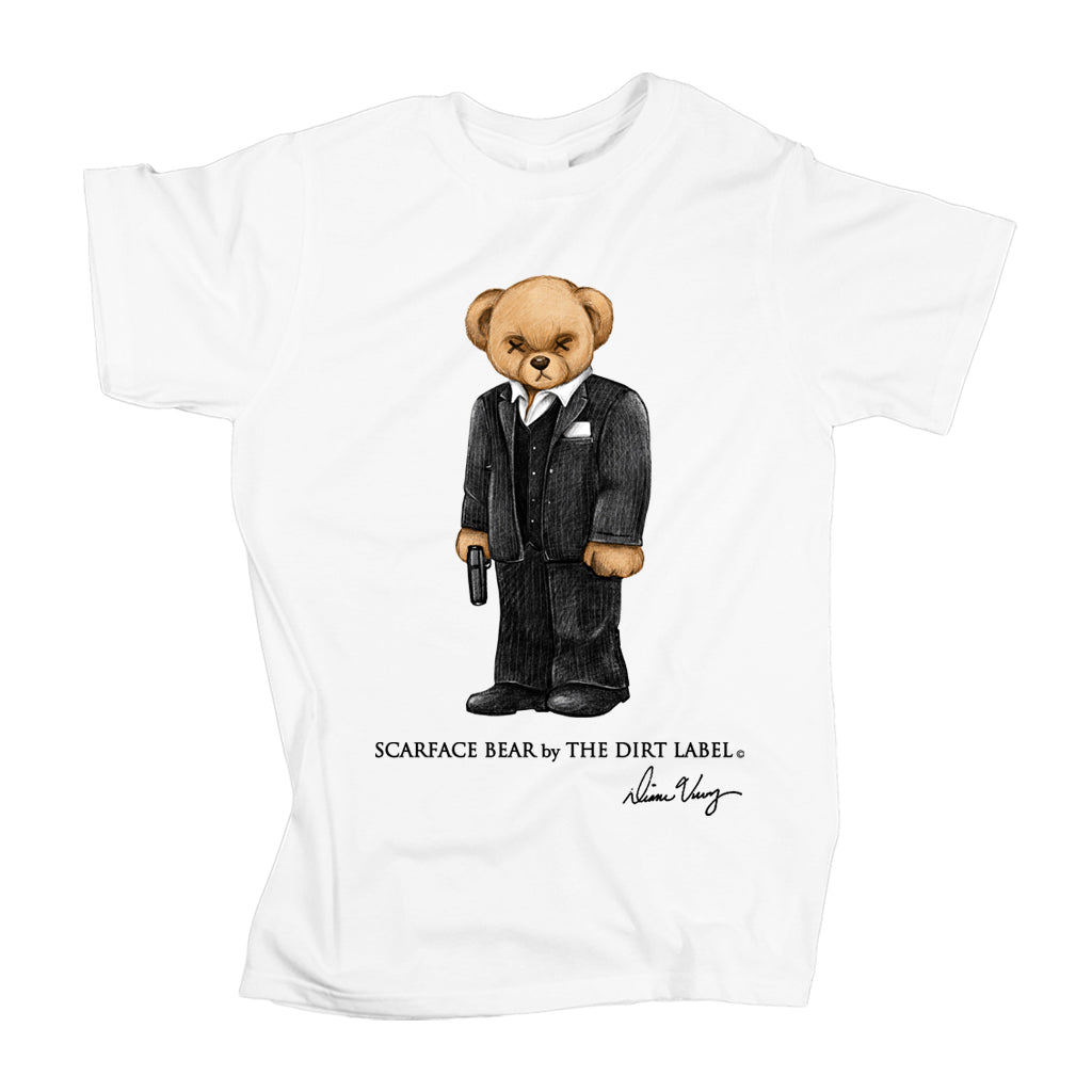 Scarface Bear Tee (White - Limited Edition)
