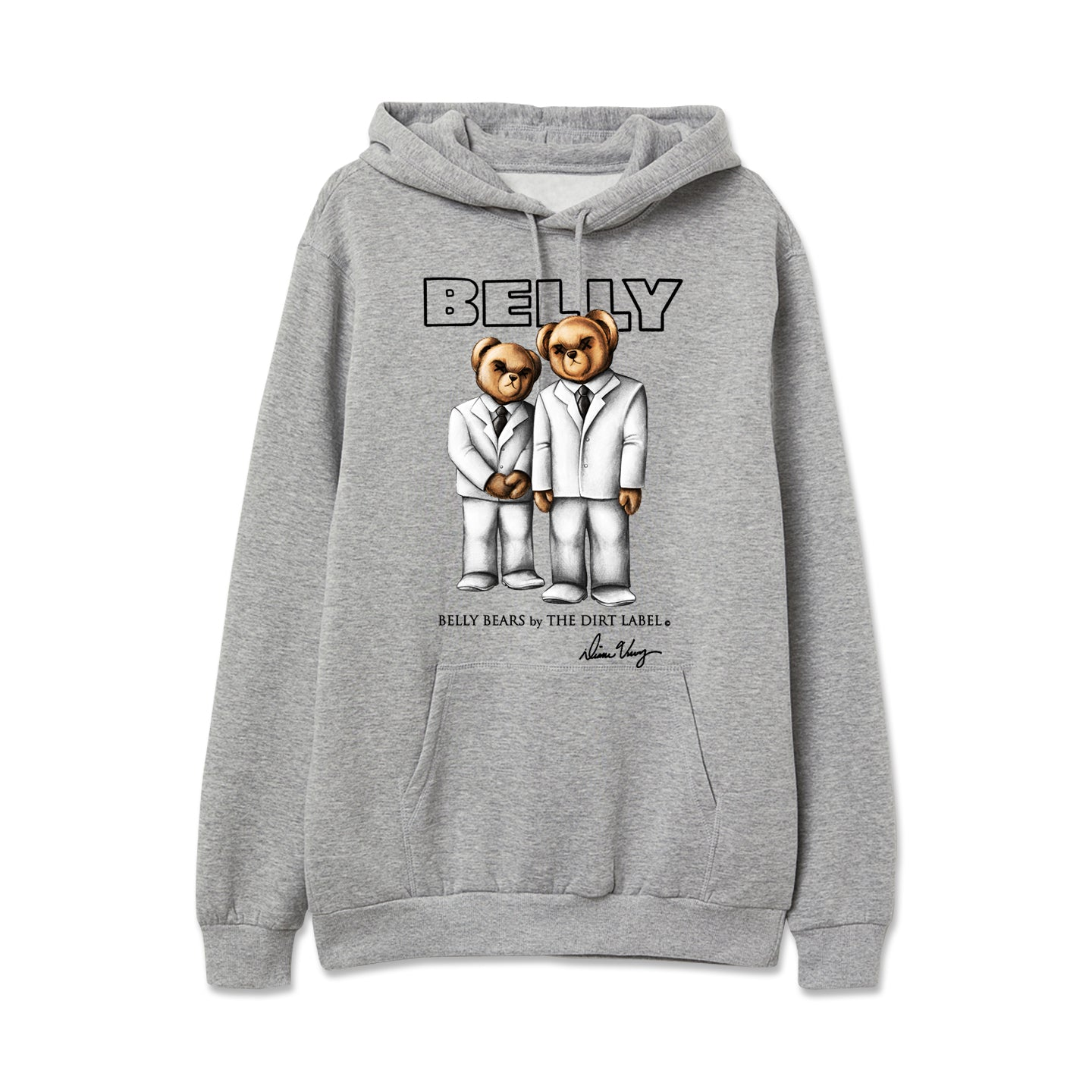 Belly Bears Hoodie (Grey - Limited Edition)