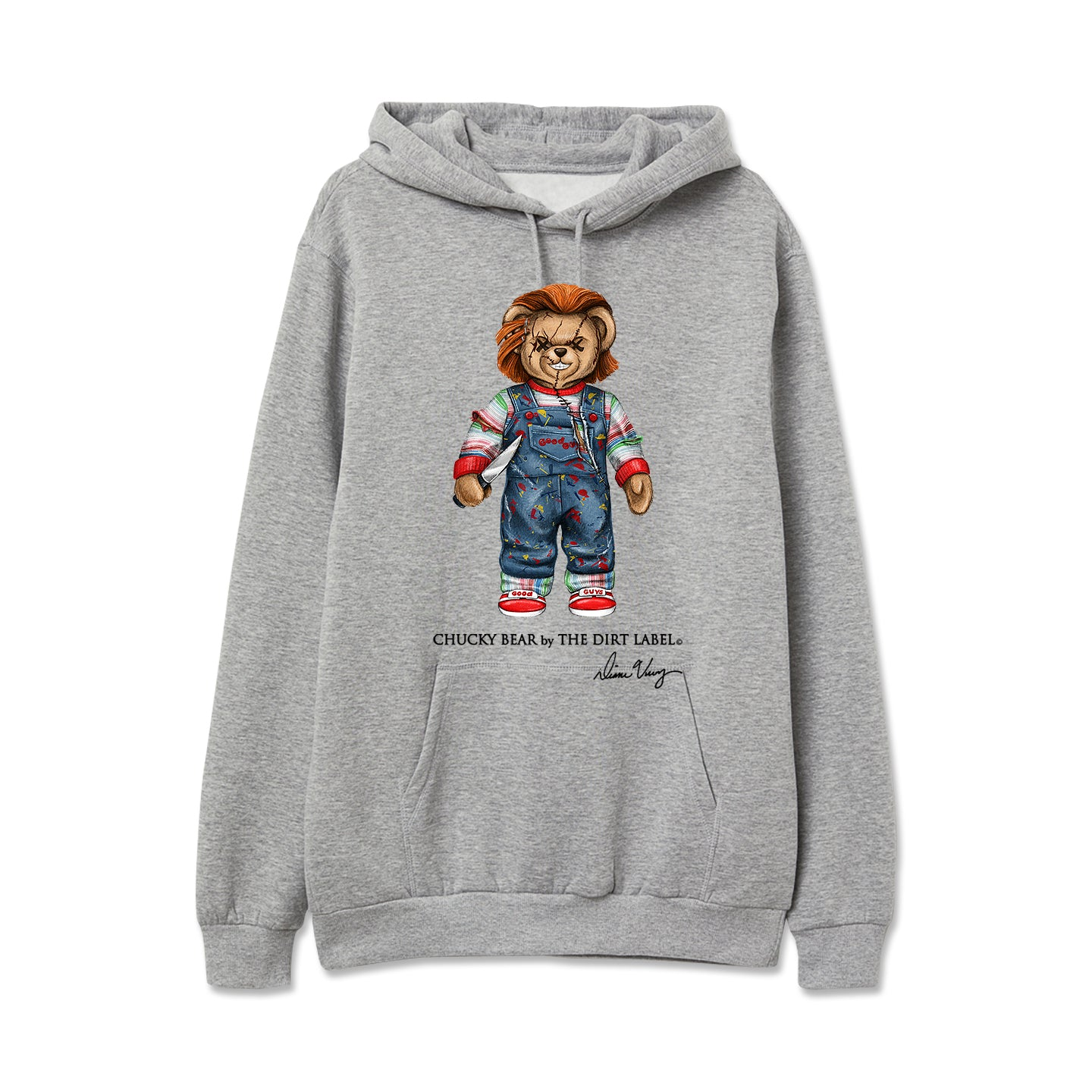Chucky Bear Hoodie (Grey - Limited Edition)