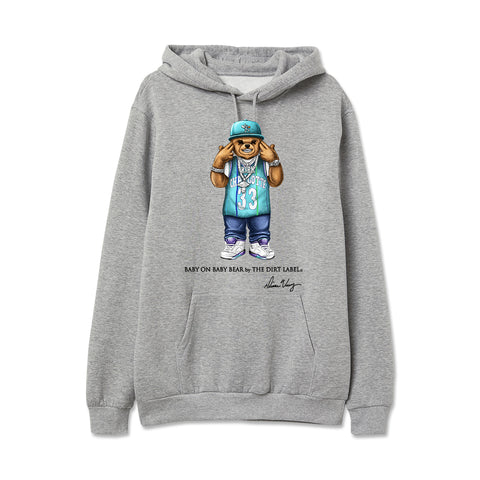 Baby on Baby Bear Hoodie (Grey - Limited Edition)