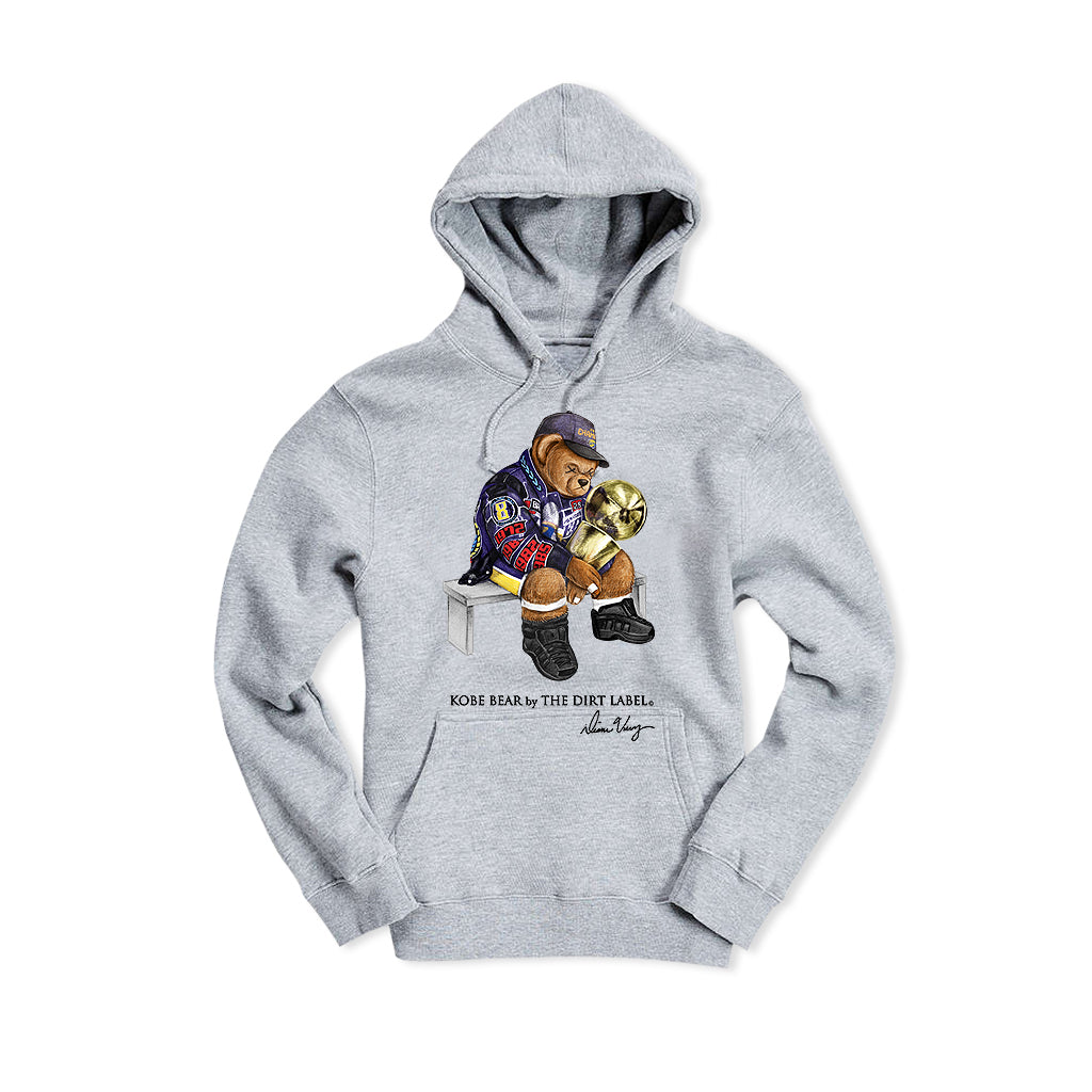 Kobe Bear Hoodie (Grey - Limited Edition) Only 20 Left!