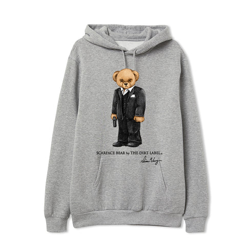 Scarface Bear Grey Hoodie (Limited Edition)