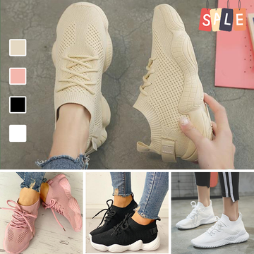 Ladies Lace Up Casual Sport Shoes