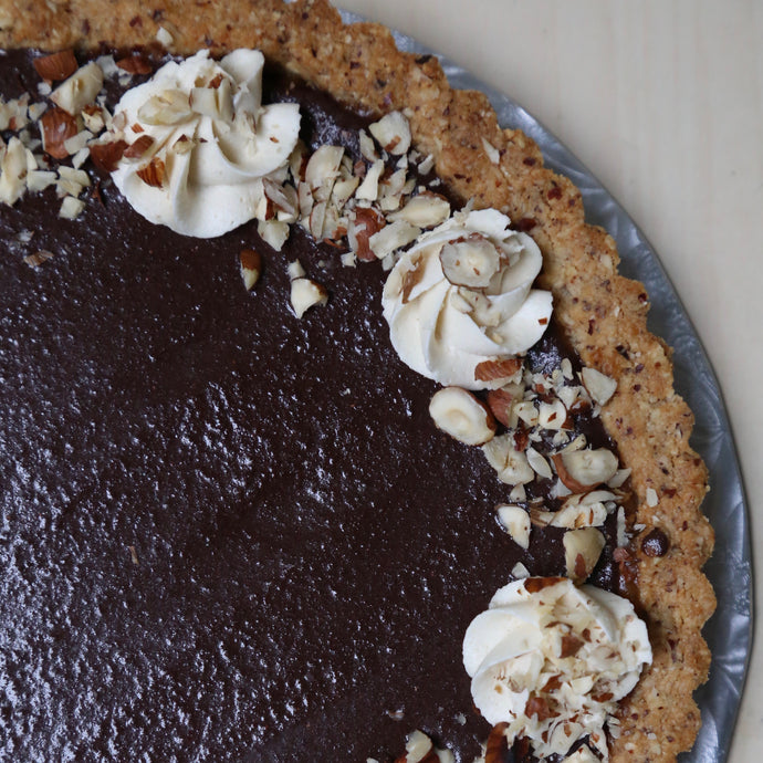 Chocolate Hazelnut Tart (V) - Leo & Co. Bakery
