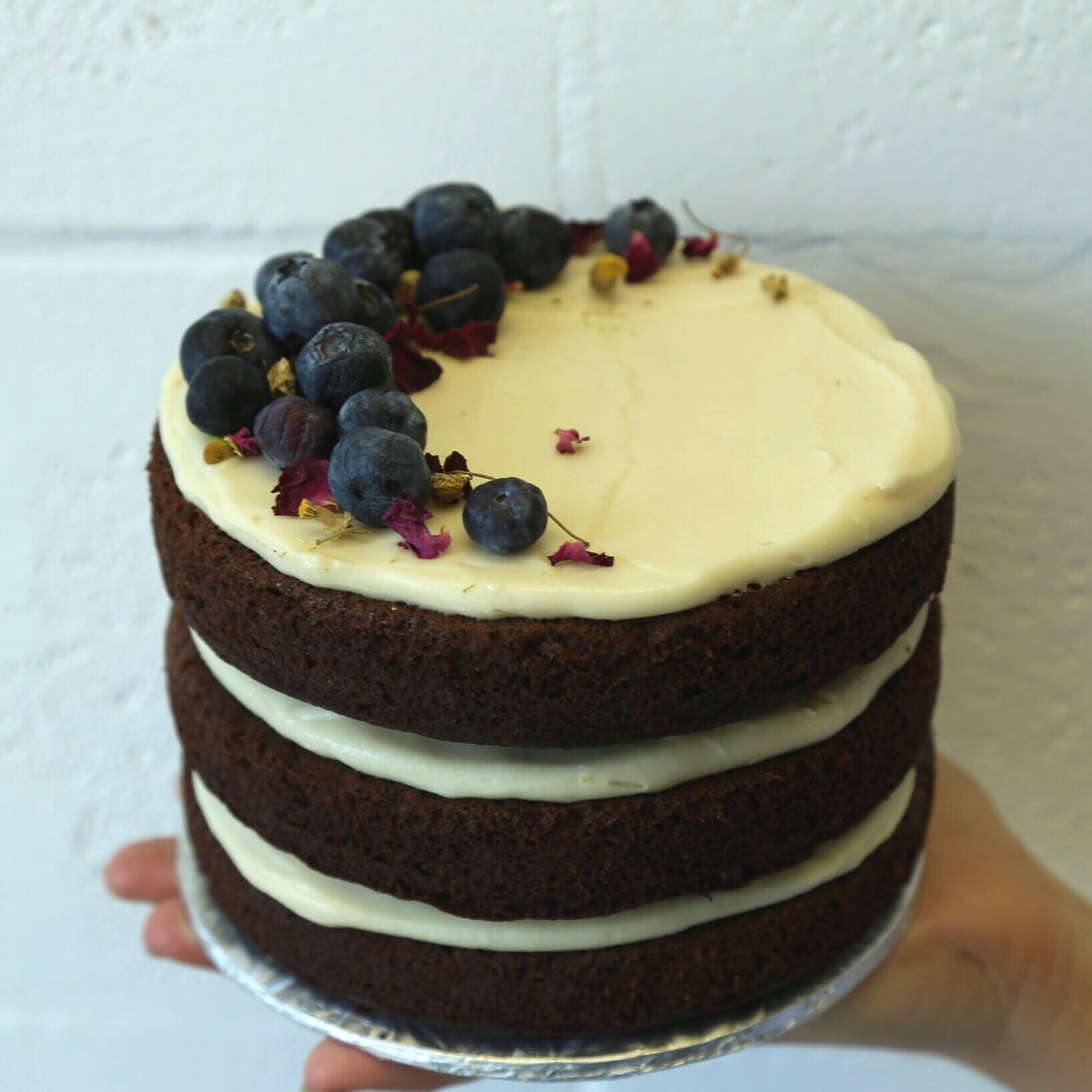 Chocolate Vanilla Cake (Keto) - Leo & Co. Bakery