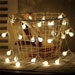 Guirlande Lumineuse <br> Boules Blanches