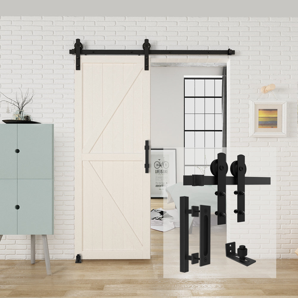 HomLux I Shaple Barn Door Hardware Whole Set