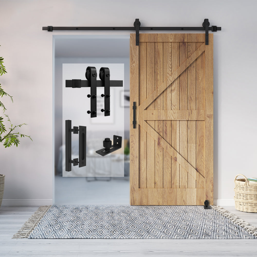 HomLux J Shaple Barn Door Hardware Whole Set