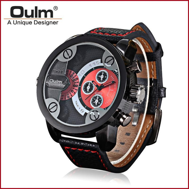 Relógio Oulm Masculino  Oversized Dial
