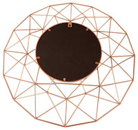 Geometric Mirror in Rose Gold 64cm