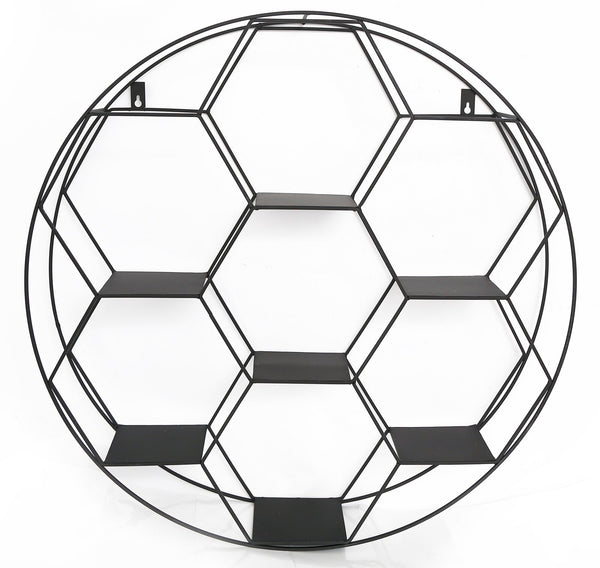 Hexagon Cut Wall Shelf 67cm