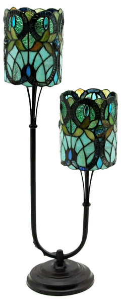 Twin Stem Tiffany Lamp - 72cm