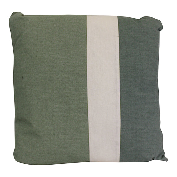 3 Panel Green Square Scatter Cushion, Eucalyptus Range