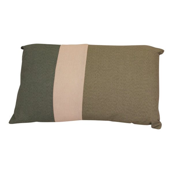3 Panel Green Rectangular Scatter Cushion, Eucalyptus Range
